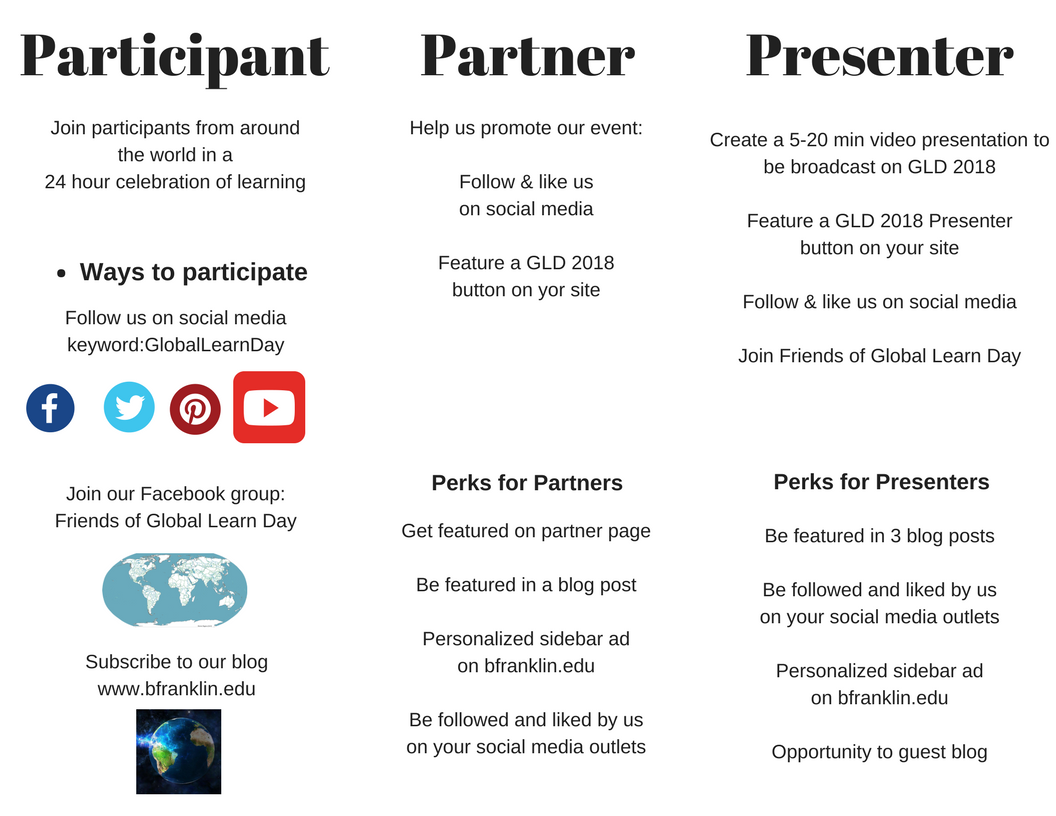How to get involved with Global Learn Day 2018